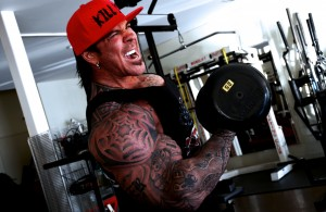Rich Piana dumbbell biceps curl