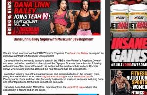 Dana Linn Bailey Muscular Development