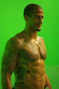 Kaepernick no shirt