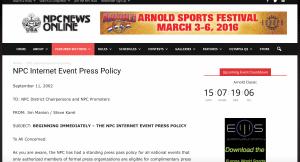 NPC Media Policy