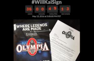 Will Kai Sign Olympia