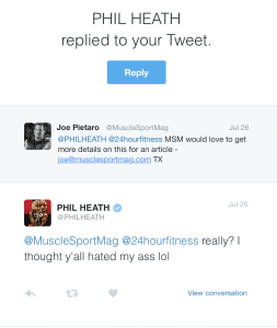 Phil Heath 24 Hr Fitness Twitter