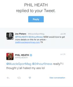 Phil Heath 24 Hr Fitness Twitter