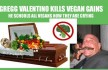Valentino Vegan Gains coffin