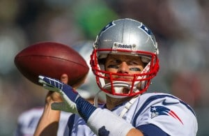Tom Brady warmups Hauser