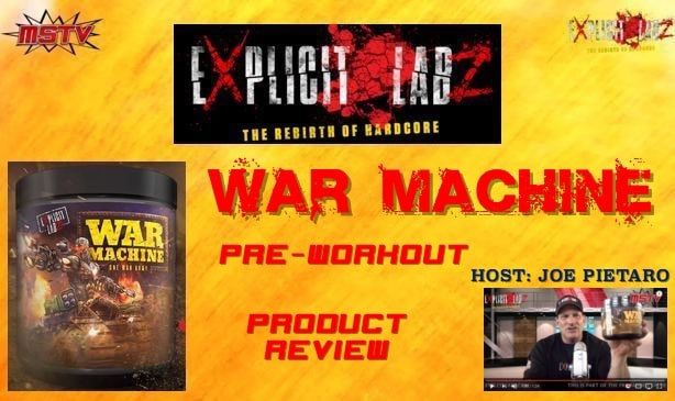 war machine pre workout